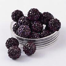 Polymer Clay Rhinestone Beads