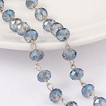 Handmade Electroplate Glass Beads Chains