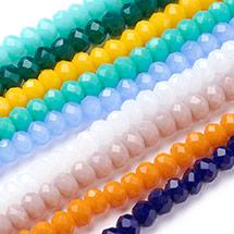 Imitation Jade Glass Beads Strands