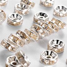 Iron Rhinestone Spacer Beads