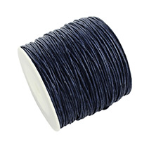 1mm Blue Waxed Cotton Thread Cords