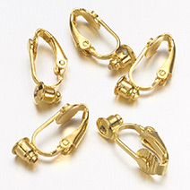 Brass Clip-on Earring Findings