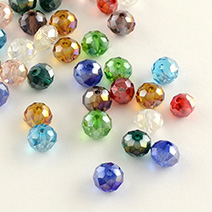 AB Color Plated Transparent Glass Beads
