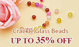 Crackle Glass Beads UP TO 35% OFF