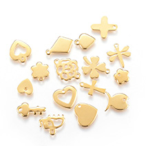 Golden 304 Stainless Steel Charms