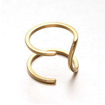 Stainless Steel Wide Band Hollow Cuff Rings
