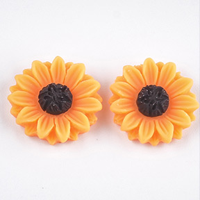 Resin Cabochons, Sunflower