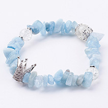 Natural Aquamarine Stetch Bracelets