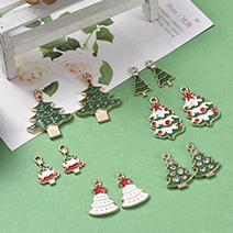 Christmas Theme, Alloy Enamel Pendants